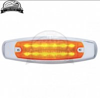 12 LED Rectangular Clearance/Marker Light - Amber LED/Amber Lens